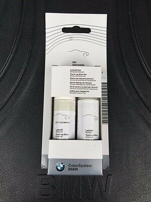 BMW Genuine Touch Up Paint Alpine White III (300) 51910301918
