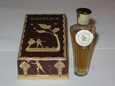 Vintage Guerlain Mitsouko Perfume Bottle & Box Sealed, 1/4 OZ - 7.5 ML 3/4+ Full