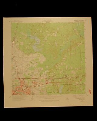Bossier City Louisiana vintage 1978 original USGS Topographical chart