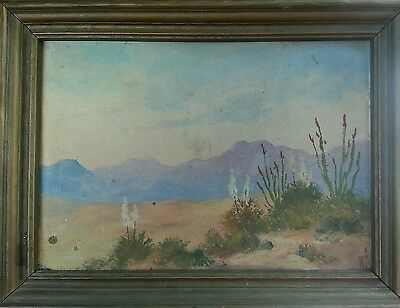 Antique Denver Western Mountains American Impressionist Fine Art Oil Painting