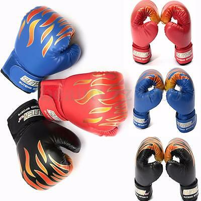 Muay Thai Boxing Children Kid Sparring Punching Fight Kickboxing Coaching Gloves
