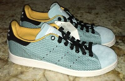 sale retailer d21f8 351f6 ADIDAS Stan Smith Blush Blue Black Gold Casual Knit Shoes Sneakers NEW Mens  8.5