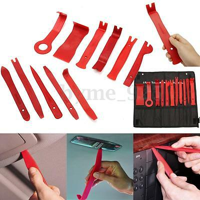 11X Red Nylon Auto Automotive Car Door Panel Clip Trim Remover Removal Pry Tools