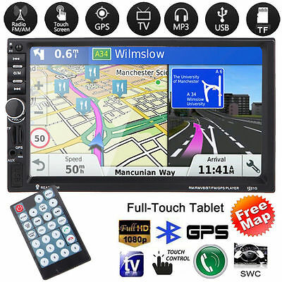 7 inch 2 Din touch screen Bluetooth USB/TF/FM DVR/Aux Input European +Map