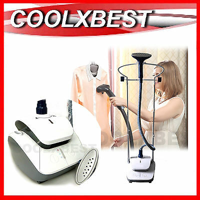 2000w GARMENT STEAMER STEAM CLOTHES CURTAIN 2.4L TANK 3 STEAM SETTINGS