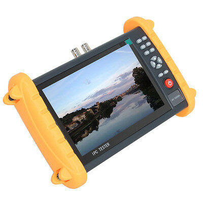 """IPC9600S 7"""" Touch Screen CVBS Analogy Video ONVIF IP Camera Test POE 12V-Output"""
