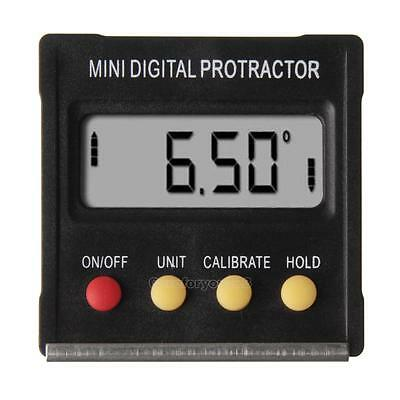 360°Mini Digital Protractor Inclinometer Angle Meter with Magnetic Base E0Xc