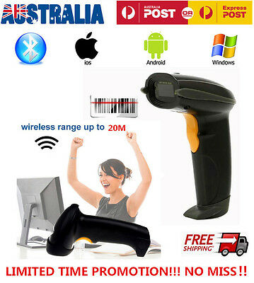 New 2.4G Wireless Bluetooth Barcode Scanner Reader For Apple IOS Android Win7/8
