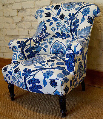 French Antique Upholstered 19th Century Armchair