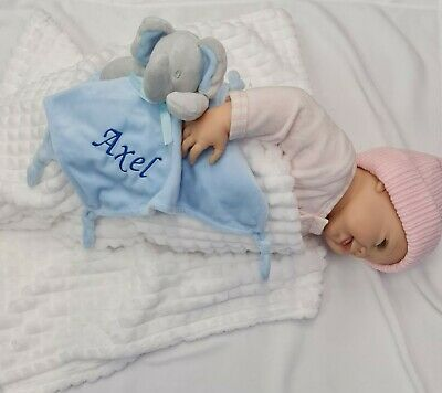 Personalised Baby elephant Comforter  Blankie/Blanket Gift - Quality Gift