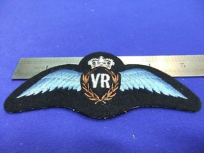 vtg badge vr volunteer reserve flying instructor ? padded brevet cloth patch