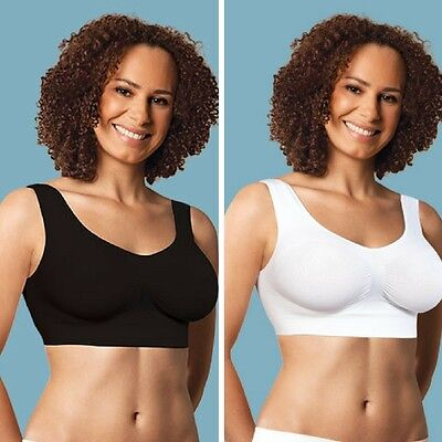 Carriwell Seamless Maternity Support Bra Black or White,  Small to Xlarge