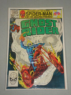 Ghost Rider #63 Vol 1 Marvel Comics December 1981