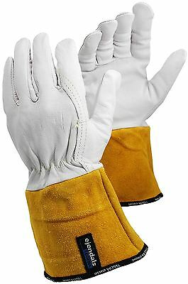 Tegera Tig Mig Leather Welding Heat Work Gloves Kevlar Thread S M L XL XXL