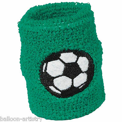 2 Football Soccer Sports Children's Party Wrist Sweat Bands Loot Favours