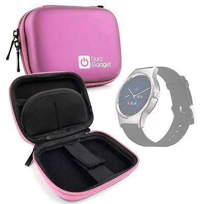 Pink Hard EVA Case with Carabiner Clip for Alcatel MovieTime Wifi Smartwatch