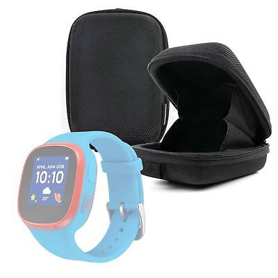 Nylon Case / Pouch with Belt Loop in Black for Alcatel MovieTime Wifi Smartwatch