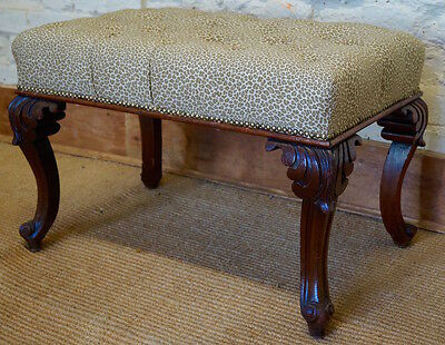 An Antique French Upholstered Footstool