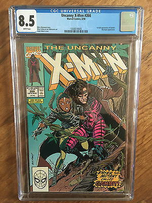 X-Men   #266  Cgc  8.5  White Pages  (1St Appearance Gambit)