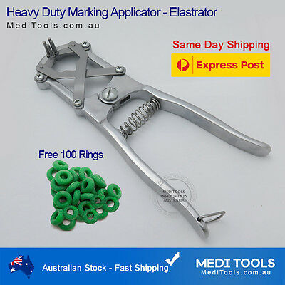Sheep, Cattle, Marking, Ring, Applicator,Elastrator,Castration,Aluminium,Premium