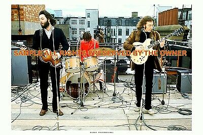 THE BEATLES  ROOFTOP CONCERT 1969 large 8 x 12 kod-ak gold EXC COND