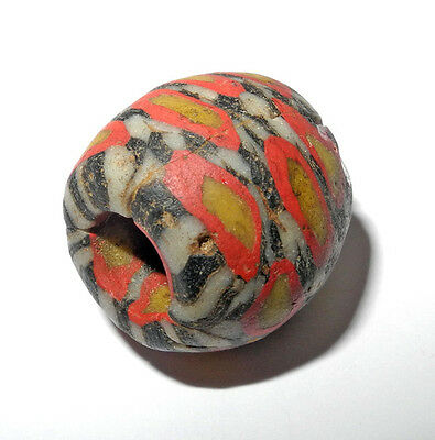 "ANCIENT EGYPTIAN MOSAIC GLASS ""EYE"" BEAD - FUSTAT - 900 AD.. mb-6142"