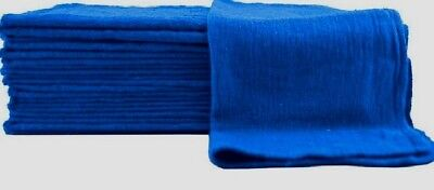 1000 New Blue Mechanics Rag Shop Rags Towels Large 13X14 Usa-Tex 100% Cotton