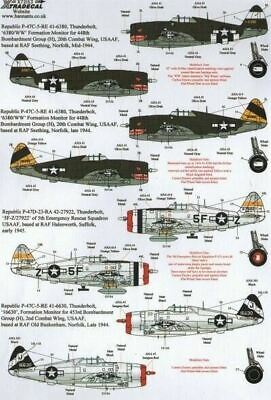 Xtradecal X72153 1/72 War Weary P-47D Thunderbolts Model Decals
