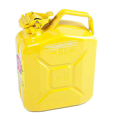 Explosion Safe Metal Jerry Can for Petrol or Diesel Fuel Yellow 5 Litre