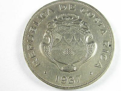 Costa Rica 50 Centimos, 1937, Circulated, Uncertified