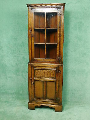 Titchmarsh Goodwin English Oak Corner Cabinet With Glass Door Model Rl33G
