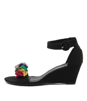 New I Love Billy Bines Black Bright Multi Womens Shoes Casual Sandals Heeled