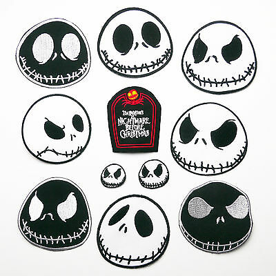 "The Nightmare Before Christmas ""JACK SKELLINGTON"" Embroidered Patch Series"