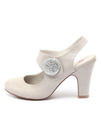 New I Love Billy Tendra Misty Silver Womens Shoes Dress Shoes Heeled