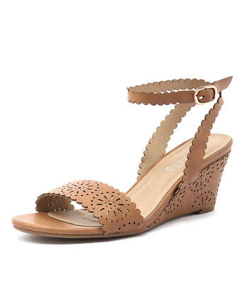 New I Love Billy Bettie Tan Womens Shoes Casual Sandals Heeled