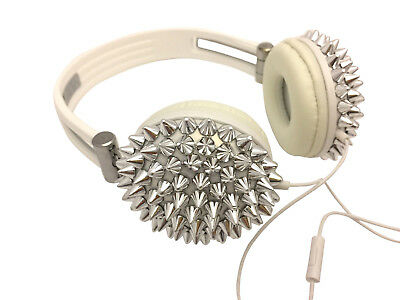 Blingustyle new design Bling Spike Fashion Ear-Cup headphone with Mic silver 2