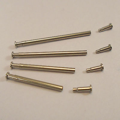 2x WATCH Pressure Bars Pins & Rivet Ends Replacements for Watch Bracelets Straps