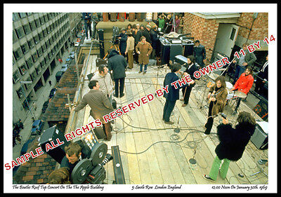 THE BEATLES ROOFTOP CONCERT SET 11x14 DYE SUB PHOTO BACK FOR SALE GIFT PRICE