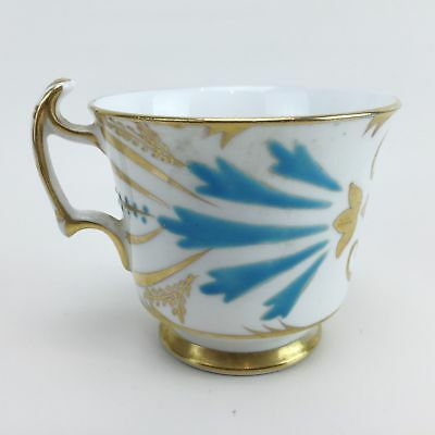 Royal Chelsea Demitasse Footed Coffee Tea Cup 3800A Bone China Turquoise Bird