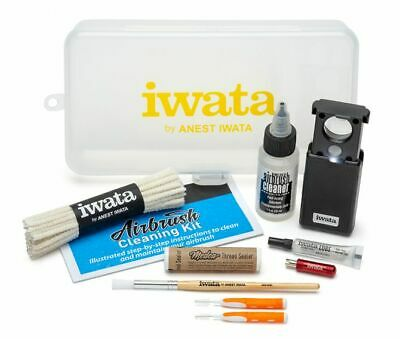 New Iwata Airbrush Cleaning Kit Cl 100 Tool Set Gravity Nozzle Spray Paint Gun