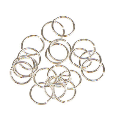 20pc Sterling Silver Open Split JUMP RINGS Findings for Jewelry Making 6mm