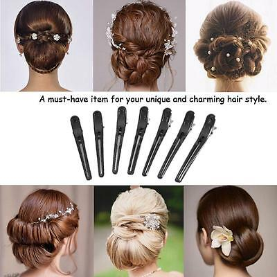 12Pcs Plastic Salon Hair Grip Clips Hairdressing Sectioning Styling Clamps G7B3