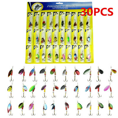 lot 30pcs metal fishing lures spinner baits crankbait assorted, Soft Baits