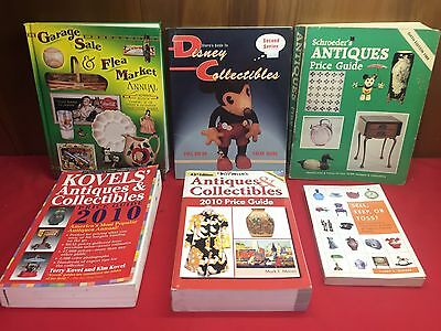 Lot of Antique Price Guide Books - 6 Total