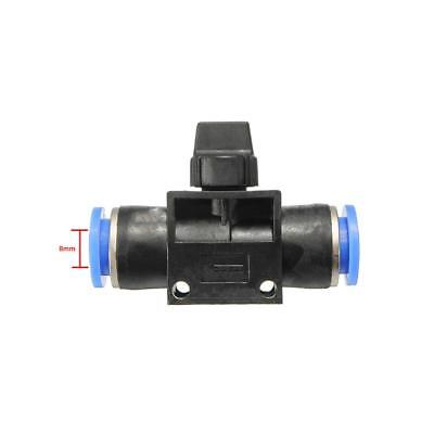 8mm Pneumatic Joint Ball Valve Connector Adapter for Air / Water Hose Tube