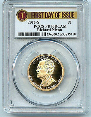 2016 S Richard Nixon Dollar PR70 DCAM PCGS $1 Proof Coin First Day Issue C5