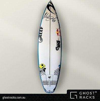 Vertical Wall Mounted SURFBOARD RACKS for single fin & thruster 'Ghost Racks'