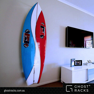 Vertical Wall Mounted SURFBOARD RACKS for twin & quad fins 'Ghost Racks'