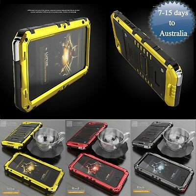 Shockproof Heavy Duty Armor Tempered Glass Metal Case Cover For iPhone X/7+/7//6