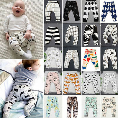 Newborn Baby Girl Boy Harem Pants Long PP Leggings Bottoms Trousers Clothes 0-4Y